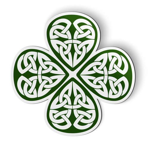 Stickers & Tees Celtic Shamrock Irish - Car Magnet - 5'