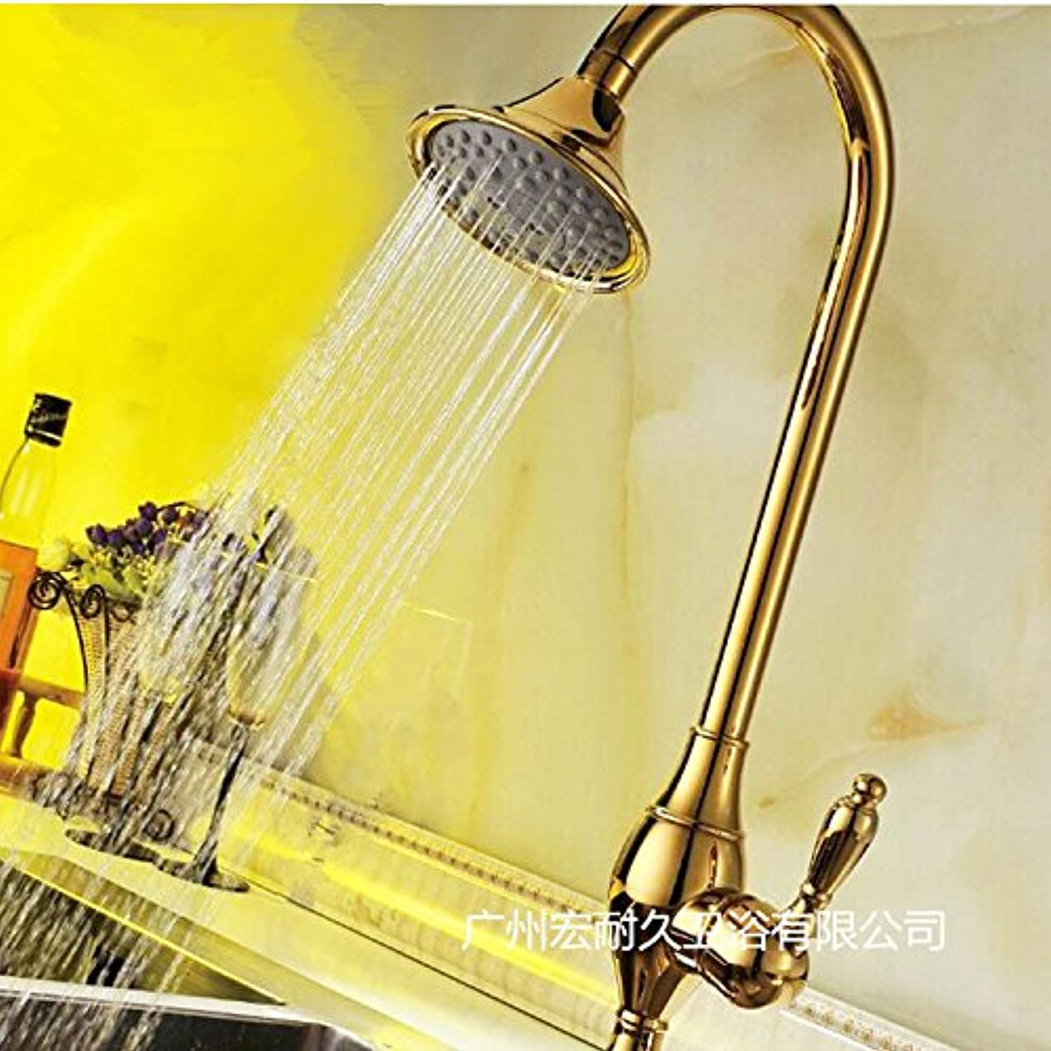 Maifeini The golden Tap _ Multifunction Kitchen Faucet And Sink Faucet Tap redary Vegetable Washing Basin,- Hdgcb5458 Hd