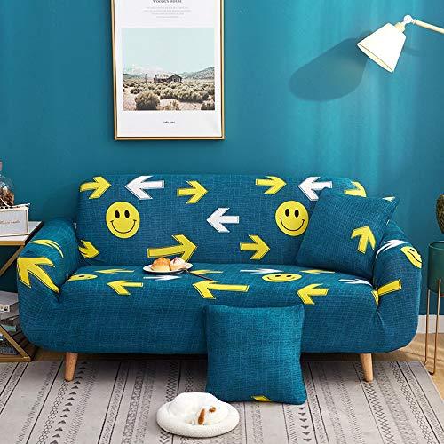 Funda de sofá elástica con Estampado Floral Estilo de línea Fundas de sofá elásticas para Sala de Estar Funda de sofá Funda de sofá seccional A11 2 plazas