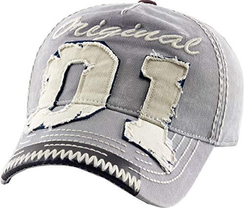 KBVT-554 LGY Vintage Hats Distressed Washed Baseball Cap Dad Hat One Size Adjustable Original