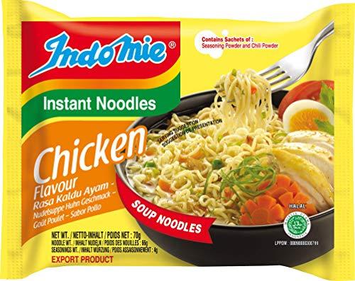 INDOMIE Instantnudeln Huhn, aus Indonesien, schnelle, einfache Zubereitung – 40er Vorteilspack à 70 g