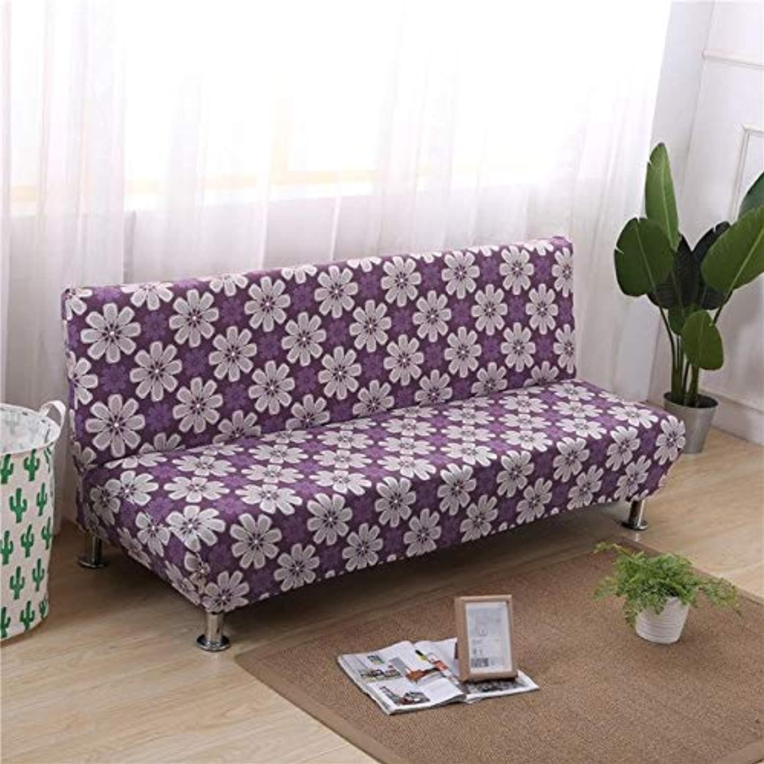 Elastic Sofa Bed Covers for Living Room Sofa Towel Slip-Resistant Sofa Bed Cover Cotton Strech Slipcover   colour20, 160cm to 200cm