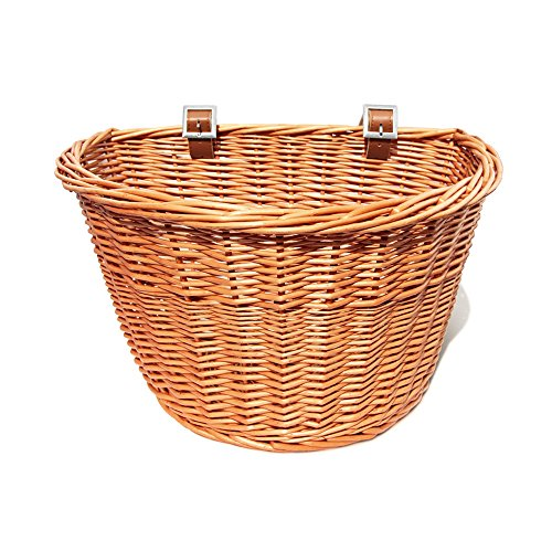 Colorbasket Adult Front Handlebar Wicker Bike Basket - Natural Color