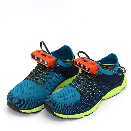 benefit-X Running Shoe Lights, Rechargeable & Waterproof Battery Light for Runners, Best Safety Running Gear for High Visibility at Night Time or Low Light