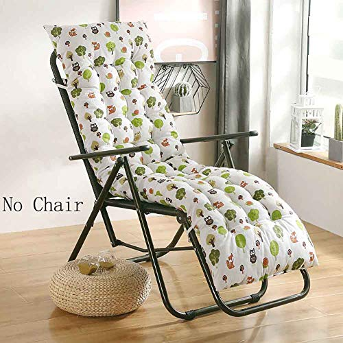 Thicken Lengthen Rocking Chair Cushion,Patio Sun Lounger Cushion,Furniture Folding Chair Pad Overstuffed Bench Seat Cushion Mattress A 48x122cm(19x48inch)
