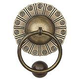 Quality door knocker,Vintage Bronze Knobs Pulls Handles,Brass Door Knocker,Single Hole Decorative Hardware,Antique Wooden Door Copper Pull Ring Home Decoration Bronze 14.5CM door knockers for front d