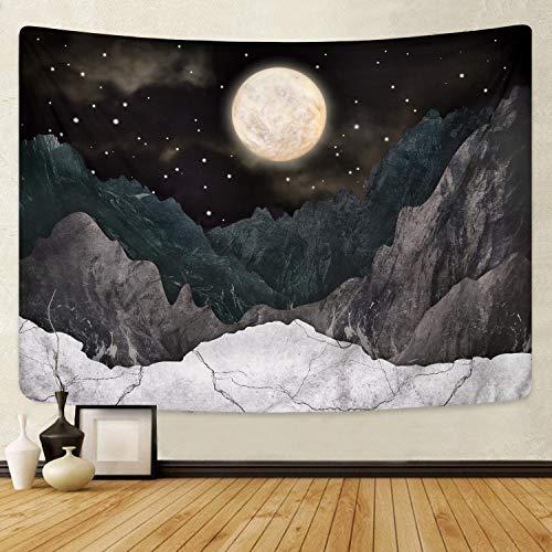 Bateruni 3D gedruckte Mond und Gebirge Wandteppich, Natürliche Landschaft zu Hause genießen...