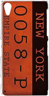 スマホケース ハードケース Xperia Z2 SO-03F 用 ナンバープレート・ニューヨーク NewYork ビンテージ USA アメリカン SONY ソニー エクスペリア ゼットツー docomo すまほカバー 携帯ケース 携帯カバー l...