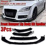 BAISHENG Auto Frontstoßstange Splitter Lip Splitter Body Kit Spoiler Diffusor Schutzfolie, für Audi TT RS 2004 2019