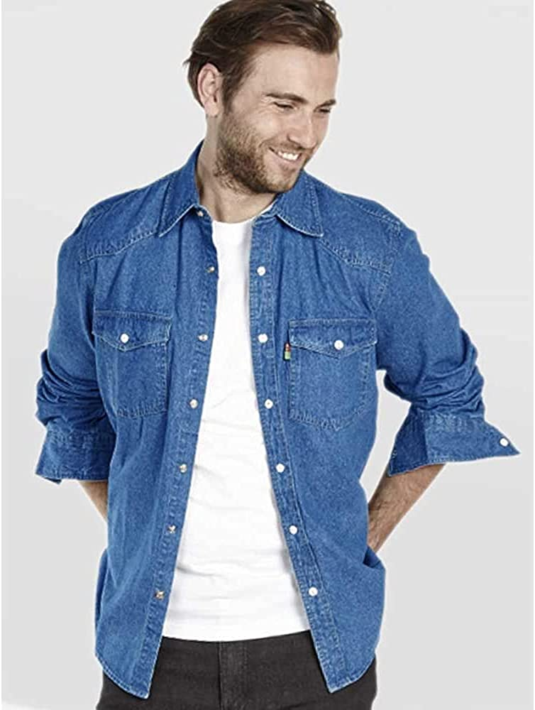 Duke - Camisa Vaquera Modelo Western en Tallas Grandes para Hombre
