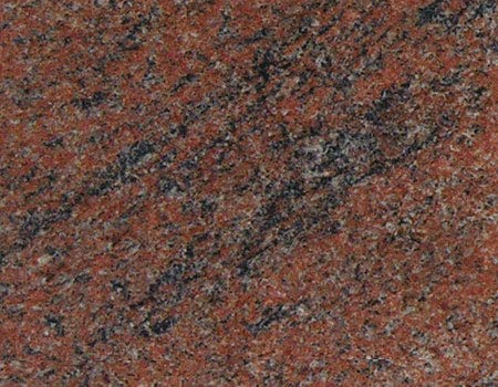 Grand plan de travail en granit rouge poli avec design unique fait main 60 x 48 x 1,5 cm
