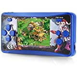 """Haopapa Retro Classic Handheld Game Machine for Kids, Nostalgia Game Console Built-in 220 Old School Popular Games, Q5 Portable Game Controller, with 2.5"""" Screen Volume Control AV-Out -Black"""