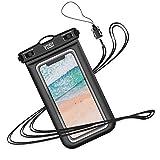 YOSH Pochette Étanche Téléphone [Certifiée IPX8] Housse Étanche Smartphones Universel pour écrans Jusqu'à 6,1 Pouces pour iPhone X XR XS 8 7 6s Plus Samsung S10 S9 S8 Huawei P30 P20 Mate20 Pro-Noir