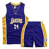 Kobe Curry Bull - Camiseta para niño, transpirable, de secado rápido, para entrenamiento de baloncesto y entrenamiento deportivo, 14-XS (120 cm)