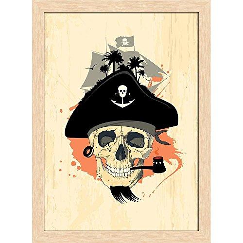 "Cuadro decorativo ""Ghost Skull"", 8 x 10,7 cm."