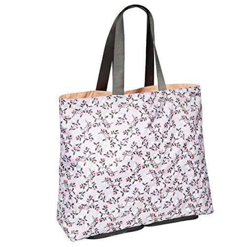 isotoner - Bolso de playa reversible y plegable para mujer