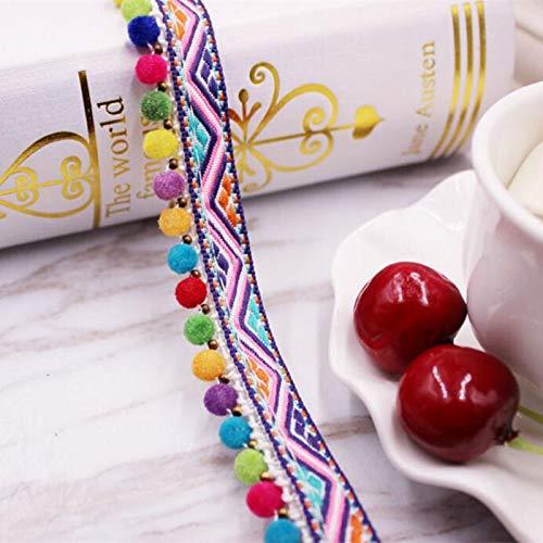 Stickereimaterial zum Nähen, handgefertigt, Ethno-Kleidung, dekorative Spitzenbesatz, ca. 45 m 91cm length Style C - 1