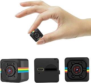 Mini Hidden Kamera SQ11, HD 1080P, unterstützt 32G SD Karte mit Nachtsicht, 140 Weitwinkel Micro Spy Nanny Sport Cam für Home, Büro