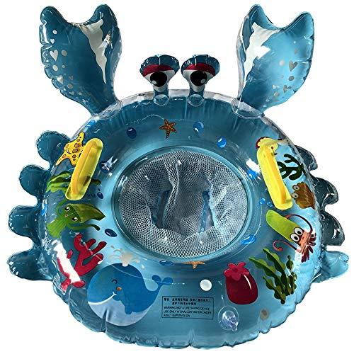 N / E Cangrejo bebé anillo de natación asiento impresión cartón espesar piscina inflable flota colchón de agua círculo jardín