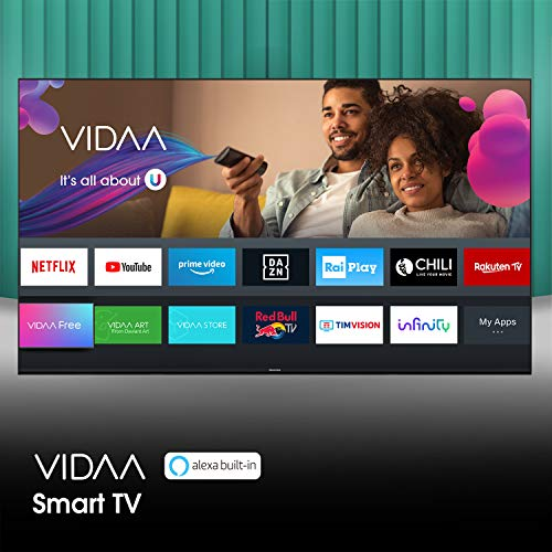 "Hisense 55AE7210F, Smart TV LED Ultra HD 4K 55"", Single Stand, HDR 10+, Dolby DTS, Alexa integrata, Tuner DVB-T2/S2 HEVC Main10 [Esclusiva Amazon - 2020]"