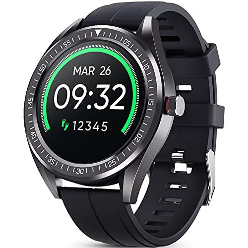 GOKOO Smartwatch Herren Männer Fitness Sportuhr IP68 Wasserdicht Herzfrequenzmessung Schrittzähler Schlafmonitor Kalorie Intelligente Aktivitäts-Tracker Kompatibel Android iOS
