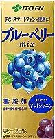 伊藤園 世界の果実 ブルーベリーmix 200ml紙パック×24本入×4ケース