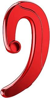 shiYsRL Wireless Bluetooth Earphone 1Pc Bone Conduction Ear Hook Stereo Bluetooth Earphone Headphone With Mic One Size Red