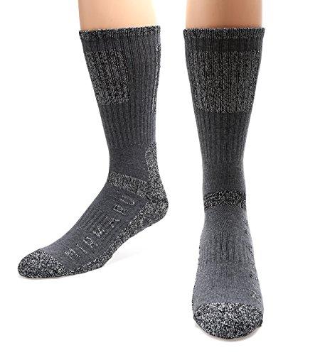 MIRMARU 5 Paires de sport multi performance randonnée trekking mi-chaussettes pour les hommes 2...