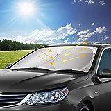 opamoo Parasol para Parabrisa, parasoles de Coche Delantero Parasol de Coche Auto Frontal Parabrisas Protector Resistente a los Rayos UV y a Luz de Sol -150x70cm