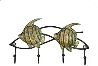 YWH-WH Wall Decoration Statue Sculpture Figurine Statuette,Fish Wall Hook Iron Wall Hanger Home Decoration Storage Hat Bag...