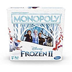 MONOPOLY GAME: DISNEY FROZEN 2 EDITION: Fans of Disney's Frozen 2 can enjoy playing this edition of the Monopoly board game that celebrates Anna and Elsa's journeys through Arendelle and beyond FEATURES AN ICY TWIST: Players can freeze their opponent...