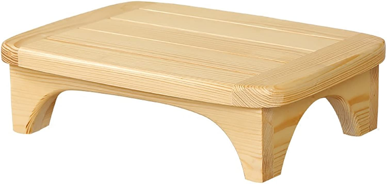 XRXY Solid Wood Footstool Bedside Stool Bathroom Pedal Sofa Pedaling Stool Office Footrest