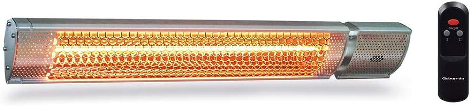 ELNUR GABARRON   Calefactor Infrarrojo Halógeno IFH-2000   Interior y Exterior   Radiadores Infrarrojos   Calor Instantáneo Terrazas Exteriores o Patios   2000W   Protección IP65   Mando a Distancia