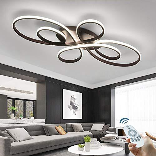 LED Dimmbare Deckenleuchte Moderne Wohnzimmerlampe Kreative Designer Deckenlampe Mit Fernbedienung Aluminium Deckenlicht Beleuchtung Esszimmer Küche Schlafzimmer Lampe Dekorative Kronleuchter