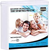 Utopia Bedding Premium Waterproof Mattress Protector 200 GSM, Mattress Cover, Breathable, Fitted Style with Stretchable Pockets (Twin)