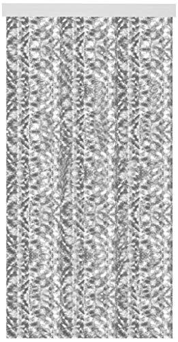 Arsvita Flauschvorhang 80x185 cm in Meliert Hellgrau - Weiß, Perfekter Insekten- und Sichtschutz für Ihre Balkon- und Terrassentür, viele Farben