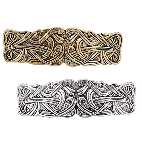 Harilla 2pcs Vintage Style Blumen Große Keltische Haarspange Französisch Haarspangen Haarspange