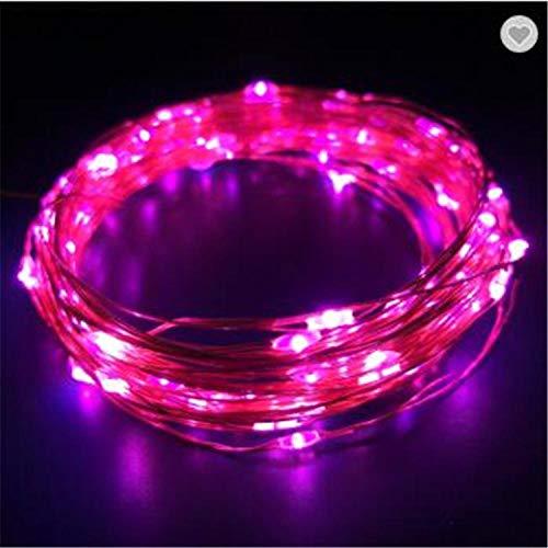 led solar koperen lichtsnoer, 100 lampjes 8 functie buiten waterdichte tuin decoratieve verlichting-8 heeft 100 lampjes roze