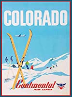 ERZAN1000ピース木製パズルコロラドスキースキーアメリカ合衆国旅行広告アート減圧ジグソーおもちゃキッズギフト