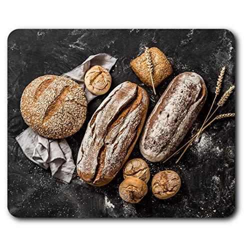 Muismat, comfortabel, rustiek brood, Baker Chef, voor computer en laptop, kantoor, cadeau, antislip onderkant