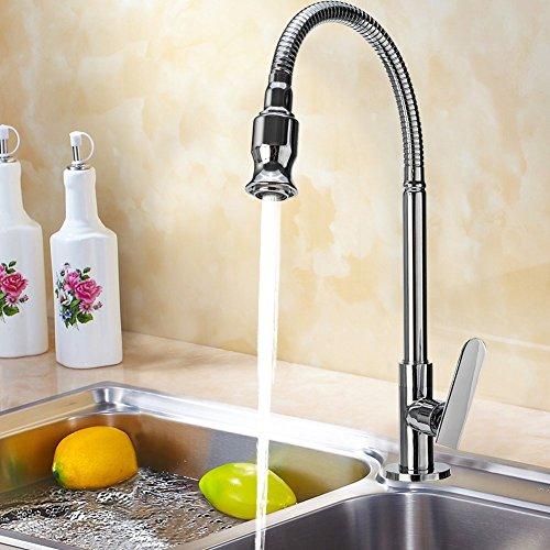 360 giratorio barra de la cocina baño grifo del fregadero individual Agua Fría cuello flexible de lavandería Sala de jardín al aire libre grifos solicitud TAP