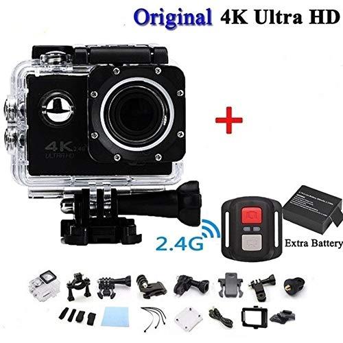 ClookYuan Pro CAM Sport Action con Telecomando Camera 4k Videocamera WiFi Ultra HD 16mp DVR Sports Outdoor Diving Videocámara para Bicicleta - Negro