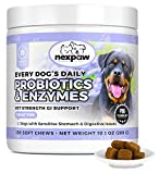 NEXPAW Probiotics for Dog Digestive Health - Relief Diarrhea, Gas, Bloating, Constipation, Upset Stomach - Safe, Natural Canine Probiotic Gut Chewable Medicine 120 Wheat-Free Chews Dogs & Puppy Loves