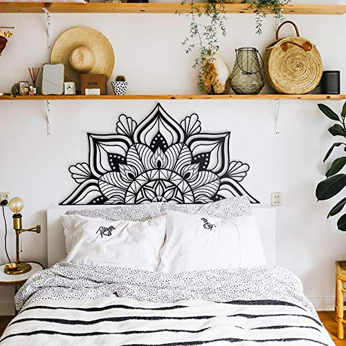 Hoagard Sutra Metal Wall Art - Decoración Minimalista para Pared - para Salones y dormitorios Modernos - Metal - Negro - 153x77cm