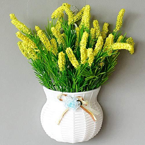 xgruisi kunstbloemen, kunstbloemen, bindingsbloemen van de mand om in Rayon en in de Domestische planten die op de muur gemonteerd zijn - geel