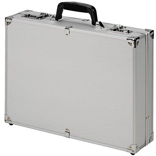 Aktenkoffer Attachékoffer Koffer Aluminium mit Zahlenschloss Alu Silber