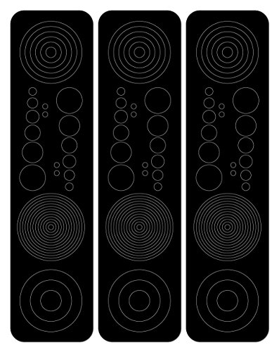 Perfect Strike Archery Circles and Dots Decals for Scope Lenses. Great for practice or competition. Perfect Strike adhesive backed vinyl decals. (Black)