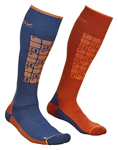 ORTOVOX Herren Ski Compression Socken, Night Blue, 39-41