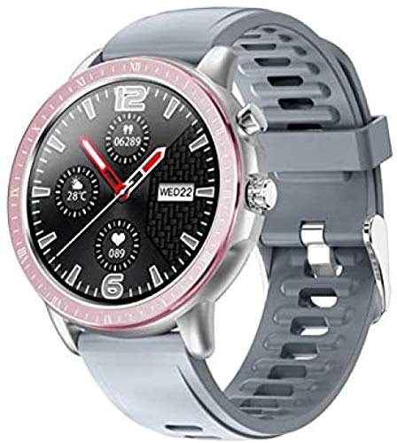 Reloj Inteligente Mujeres Hombres Monitoreo De Ritmo Cardíaco IP67 Impermeable Fitness Tracker 1 3 Pulgadas Pantalla Redonda Completa Band-B