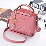 Bolsos de Moda Bordado Multicapa Bolso Cuadrado pequeño Bolso de Moda Bolso Rosa Claro